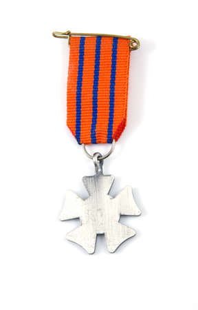 Single medal on a white background. photo