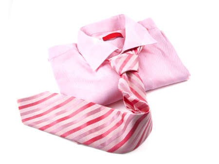 Pink shirt with nectie on a white background. Stock Photo - 7949167
