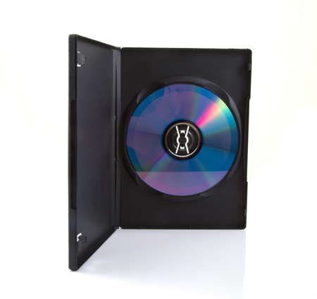 CD box with cd on a white background.