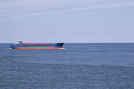 Large ship in the water.