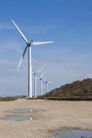 A couple windmills and a blue sky. Stock Photo - 8091243