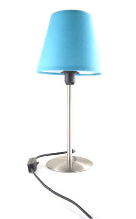 reading lamp: Blue twilight lamp on a white background.