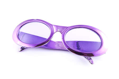 Purple sunglasses on a white background. Stock Photo - 10764928
