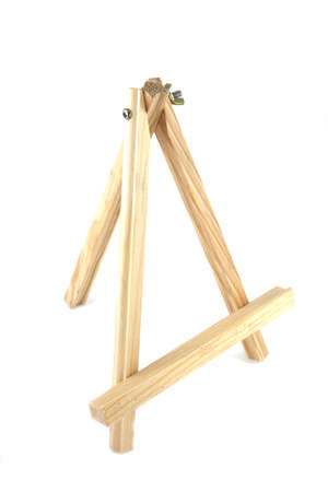 Painter easel on a white background. photo