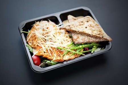 Catering Box. Takeaway food in a box.