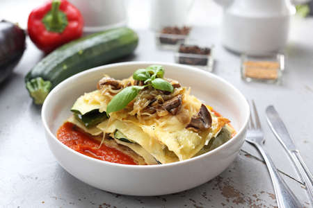 Vegetarian cooking. Appetizing vegetarian dishes. A healthy vegetable diet