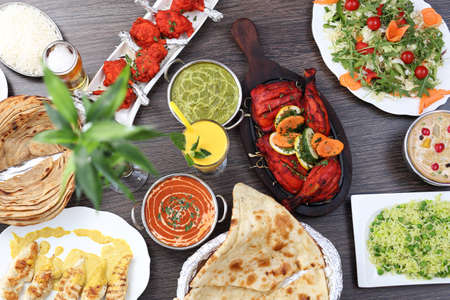 Indian food. Traditional Indian cuisine. Stock Photo