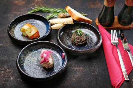 Elegant starters. tasty starters served on the table. Stock fotó