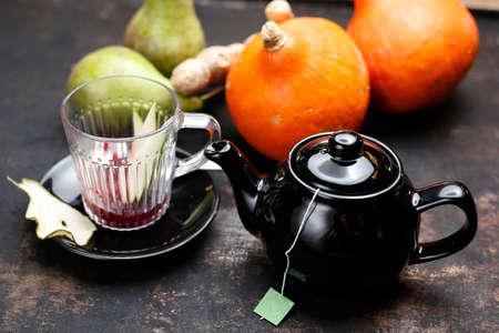 Tea. Brewing tea. Fruit warming tea. 版權商用圖片
