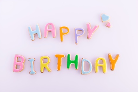 Happy Birthday Card On Textured Light Pink Words Happy Birthday