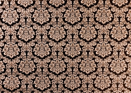 brocade: Abstract background of a heavy purple brocade fabric with interwoven repeat design. Stock Photo