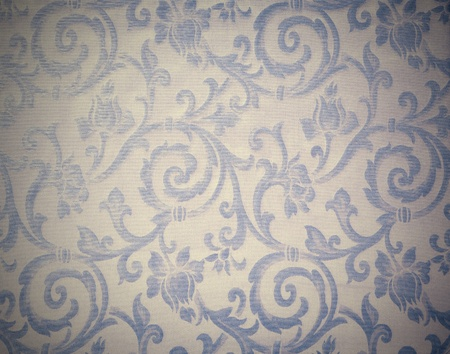 Abstract background of a heavy grey blue brocade fabric with interwoven repeat design. Stock Photo - 12301717