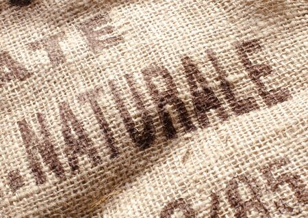 purely: Natural printed on a coffee bag. For your own ideas Stock Photo