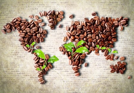 World of coffee Stock Photo
