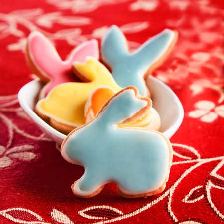 Delicious Easter Rabbits in a bowl photo