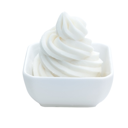 cream: Frozen Vanilla yogurt Dessert