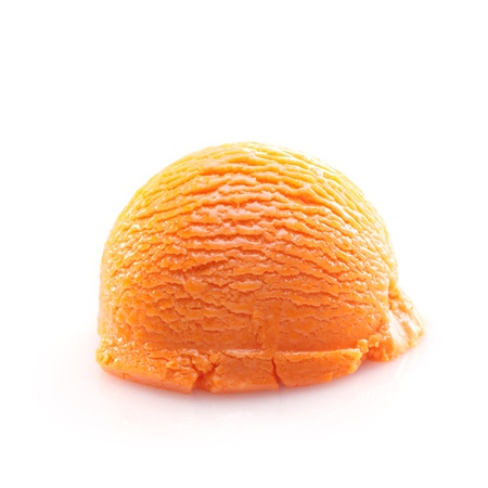 Isolated scoop of orange ice cream isolated on white background Stock Photo - 14452677