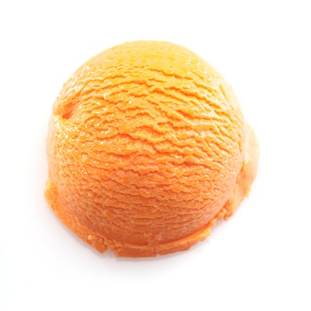 ice cream scoop: High angle view on a Orange scoop of icecream. For ice-cream concept take a look at my portfolio