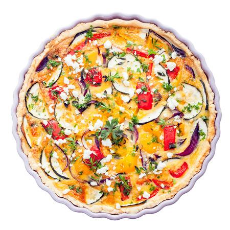 Savory Ei Krauter Tomaten Und Kase Vegetarische Quiche In Einer