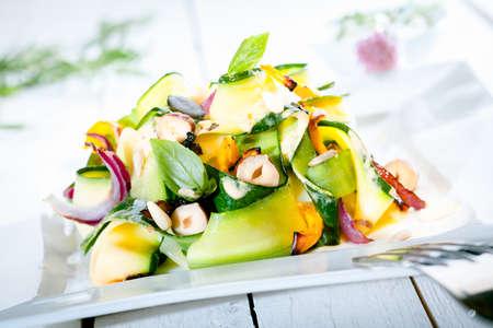 heathy: Gourmet Fresh Heathy Summer Salad on Wooden Table
