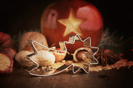 christamas: Xmas Star for Cookies with christmas background