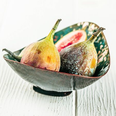 laxative: Bowl of sweet ripe succulent figs