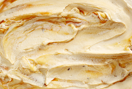 Tasty creamy Italian caramel ice cream full frame texture for advertising or summer themed food concepts