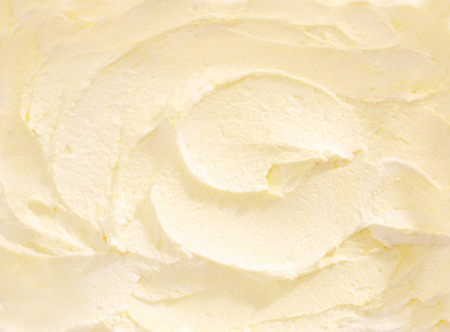 Full Frame Close Up of Banana Ice Cream, wirbelte Weiß Cremefarbig Ice Cream Treat Standard-Bild - 41637648