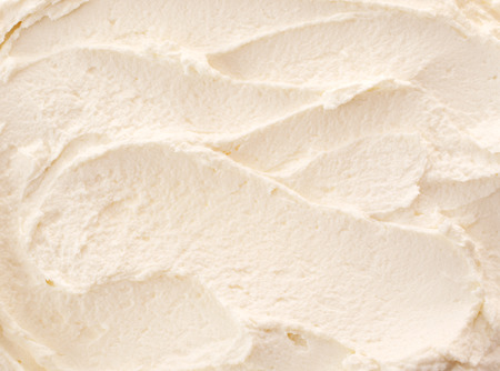 Delicious refreshing creamy Italian lemon or vanilla ice-cream for a summer dessert or takeaway, close up full frame background texture