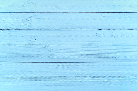 Painted blue wood background texture of old parallel rustic planks or boards, full frame with copyspace Stock Photo