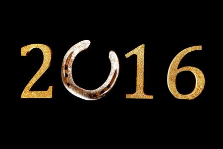 2016 Neujahr Hintergrund Mit Aa Hufeisen Glück In Dem Tag ...