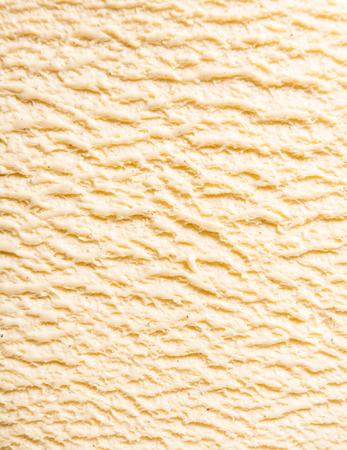 抽象的なテクスチャ背景 - 甘いクリーミーな表面の隆起部分のクローズ アップと冷たいバニラ ブルボン凍結酪農アイス クリーム デザート