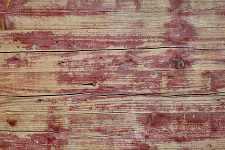 weatherworn: Old grunge weathered rustic wooden table background texture with cracked boards and weatherworn paint, full frame view Stock Photo