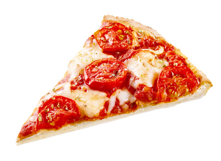 Slice Of Margherita Pizza On A Thin Crust Topped With Mozzarella Stock Photo Picture And Royalty Free Image 62635573