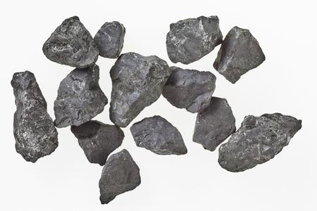 フラーレンの抗酸化物質が含まれてする元気とその高炭素含有量および唯一の岩の 1 つのための代替癒しの水の浄化で使用されるカレリアからロシ 写真素材