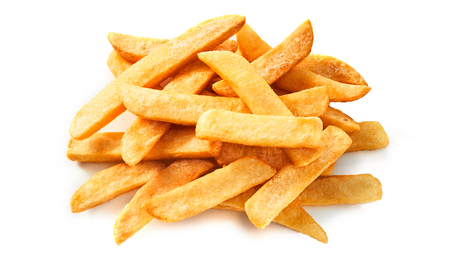 Bunch of pommes frites isolate background for advertising constructions.