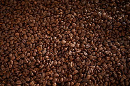 Background texture of roasted coffee beans Stock fotó