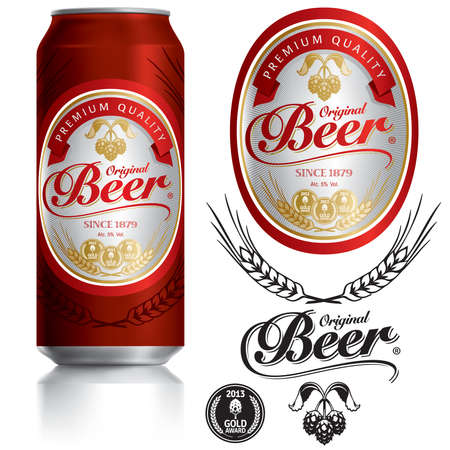Beer Label visual on Black aluminum drinks can 500ml, ideal for beer