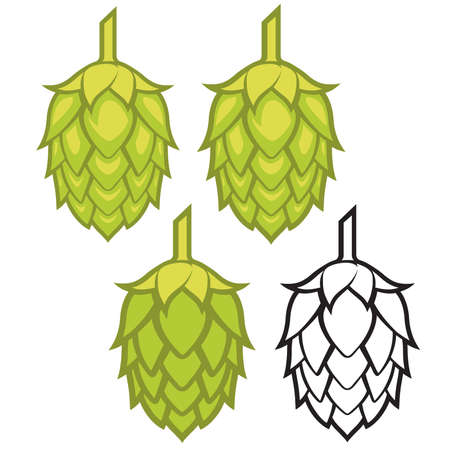 Hops visual graphic icon, ideal for beer, ale, lager, bitter labels and packaging etc. Banque d'images - 121815982