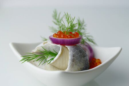 luxe: Rollmops de Luxe Close Up Stock Photo
