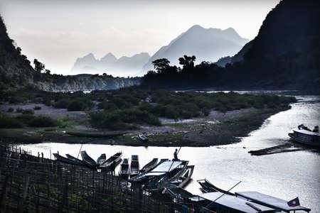 Landscape with river ,Laos