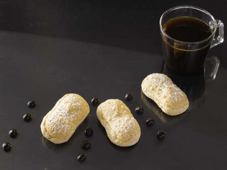 Finger biscuits and a cup of coffee Stock Photo - 15987439