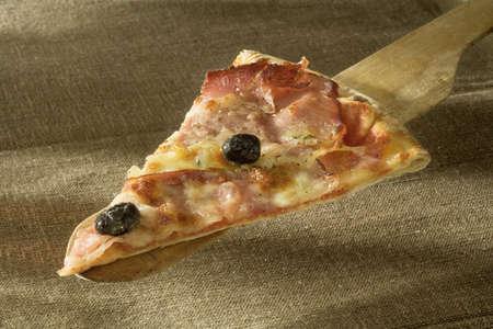 Slice of ham pizza Stock Photo - 15987442