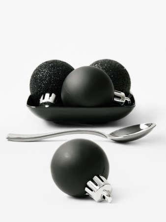 Black balls for the Christmas tree Stock Photo - 15987547