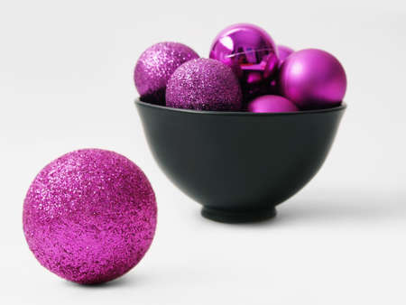 Purple balls for the Christmas tree Stock Photo - 15987551