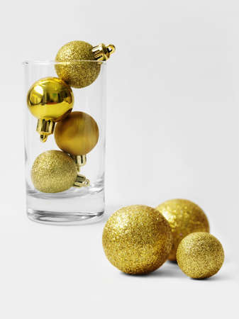 Golden balls for the Christmas tree Stock Photo - 15987554