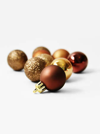 Bronze balls for the Christmas tree Stock Photo - 15987555