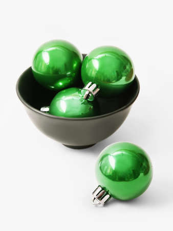 Green balls for the Christmas tree Stock Photo - 15987558