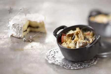 Camembert-apple crumble and Camembert with black cherry jam Stock Photo - 15987591