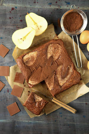 Pear and cocoa cake LANG_EVOIMAGES